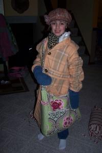 Emma dressed as Momma