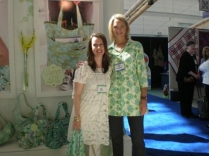 Amy Butler has organic cotton bedding coming out soon!  {Spring Quilt Market - Pittsburgh - 2009}