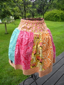Love these full patchwork skirts!