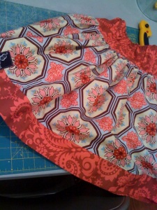 Pink Fig's Twirl Skirt pattern - this is one I made for one of the peas from Sandi Henderson's Ginger Blossom print